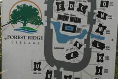 forest ridge village condo locator and parking map at entrance