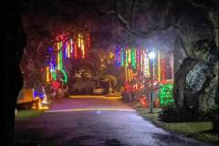 entrance to forest ridge village at christmas time